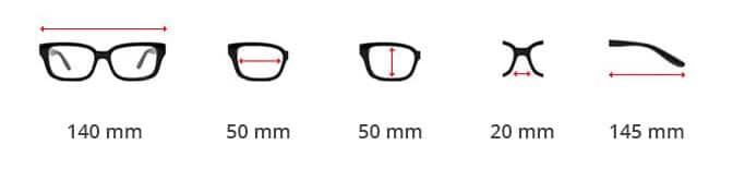 Dimentions des lunettes Steampunk avec protection latérale