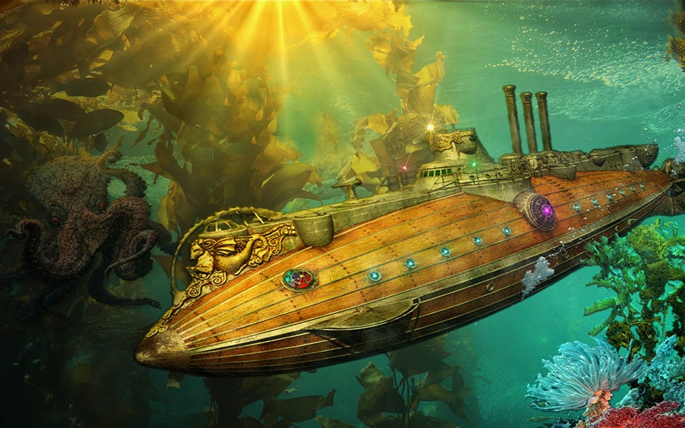 The Nautilus, an sci fi submarine