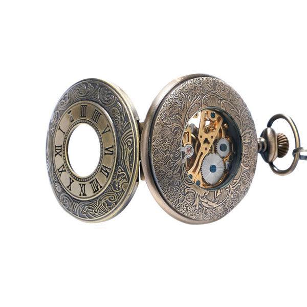 Montre de poche steampunk bronze