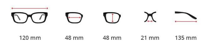 Dimentions des lunettes Steampunk hublot