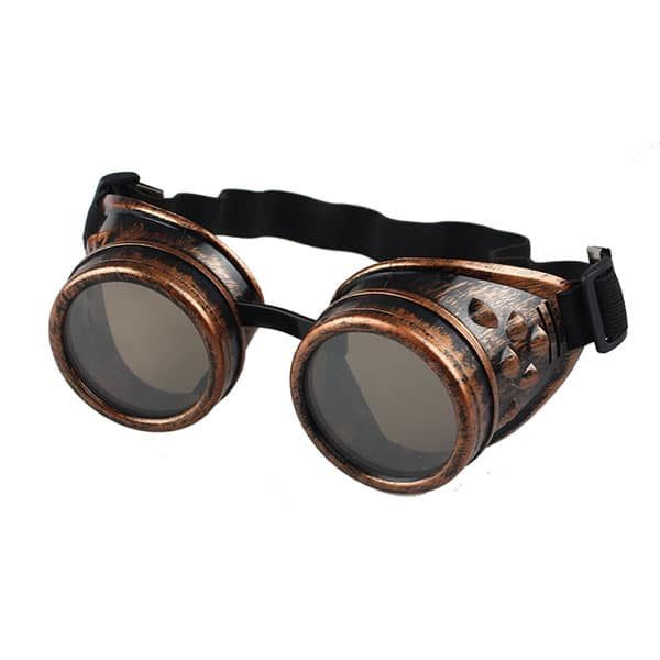 Lunettes de soudeur steampunk cuivrées