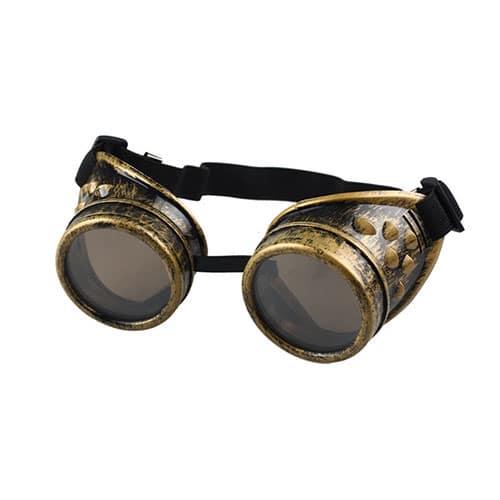 Lunettes de soudeur steampunk dorées