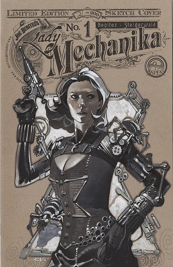 Scarlett Johansson in a steampunk costume