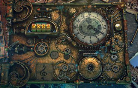 La steampunk time machine, élément central du clip vidéo