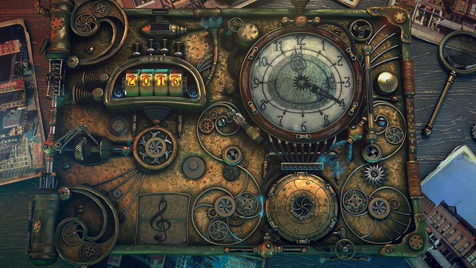 La steampunk time machine, élément central du clip vidéo
