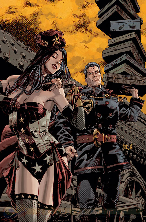 Wonder Woman et Superman version XIXe siècle