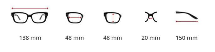 Dimentions des lunettes Steampunk Spring