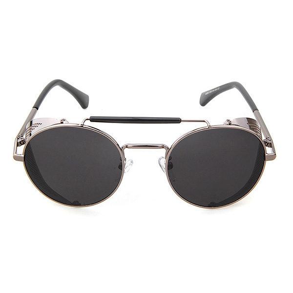 lunettes Rider argentées vue de face