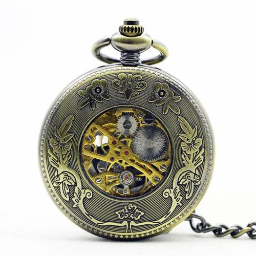 Vue de dos de la montre gousset Dragon & Fenghuang