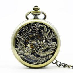 Montre gousset homme Dragon Fenghuang (mécanique)