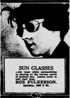 An advertisement for sunglasses from 1917