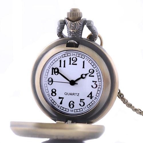 Cadran de la montre pendentif chat mécanique
