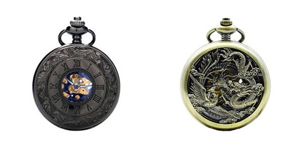 Exemples de montres à gousset disponibles dans notre magasin steampunk