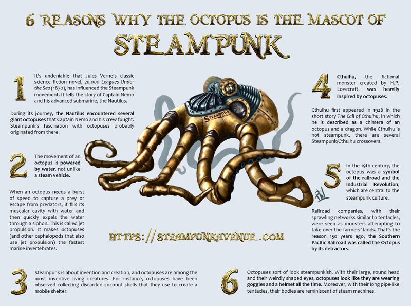 The octopus is the mascot of steampunk