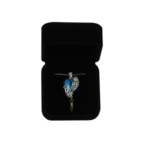 collier chaîne métal argenté breloques swarovski elements