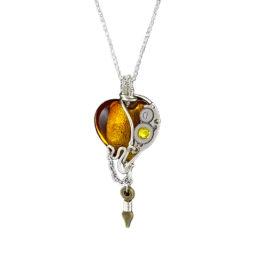 Collier pendentif femme coeur