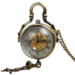 Glass Ball Transparent Skeleton Mechanical Pendant Watch