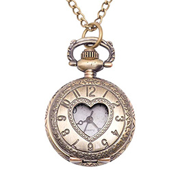 Copper Love Heart Pocket Watch Chain Pendant