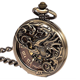ManChDa Dragon Mechanical Pocket Watch