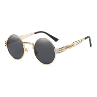 Cyberpunk gold frame sunglasses
