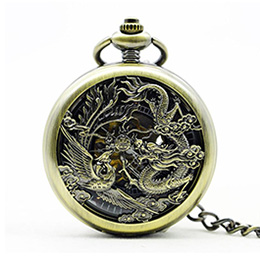 Dragon and phoenix - Vintage pocket watch