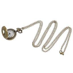 Montre pendentif bronze collier