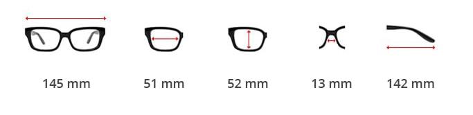 Dimensions lunettes Biker