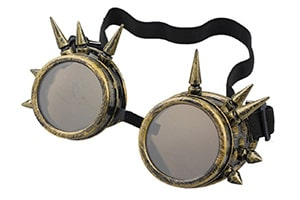 Cyber punk spiked goggles
