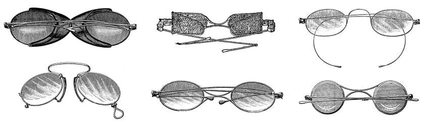 Fashion sunglasses of Victorian times