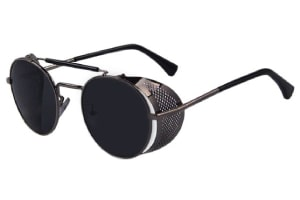 Vintage inspired metal sunglasses