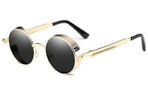 Vintage style round glasses with non-polarized lenses