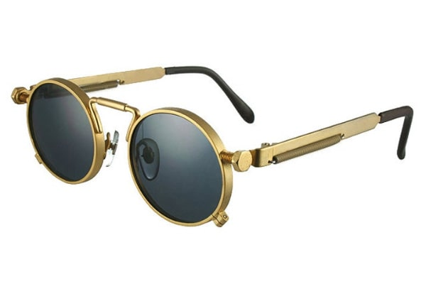 Gold frame round glasses for women and men