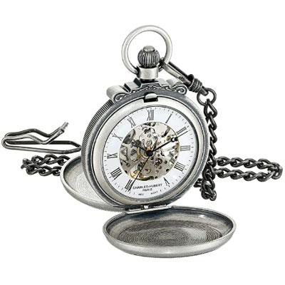 Charles-Hubert Paris double hunter case silver watch