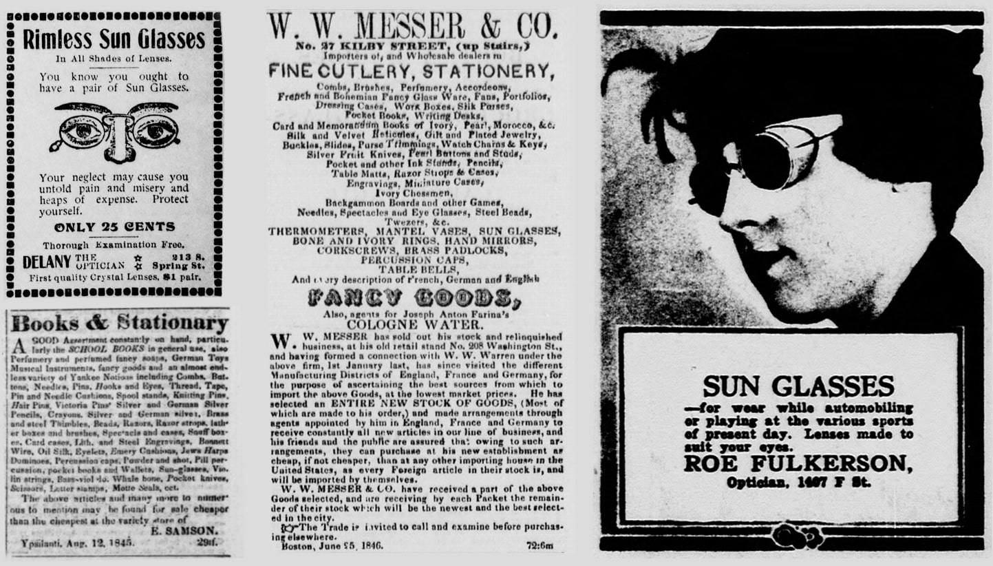 First advertisements for steampunk sunglasses