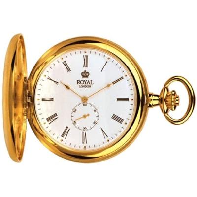 Montre métal doré avec complication chronographe