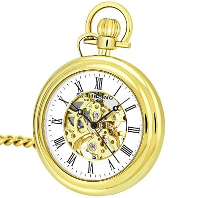 Stuhrling original gold tone pocketwatch