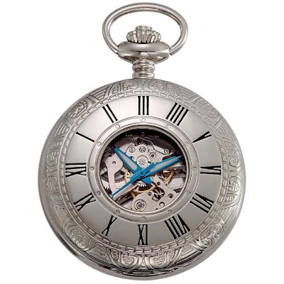 Vintage style mens pocket watch